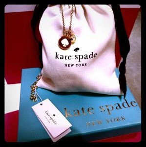 """Kate Spade """"spot the spade"""" gold NWT necklace"""